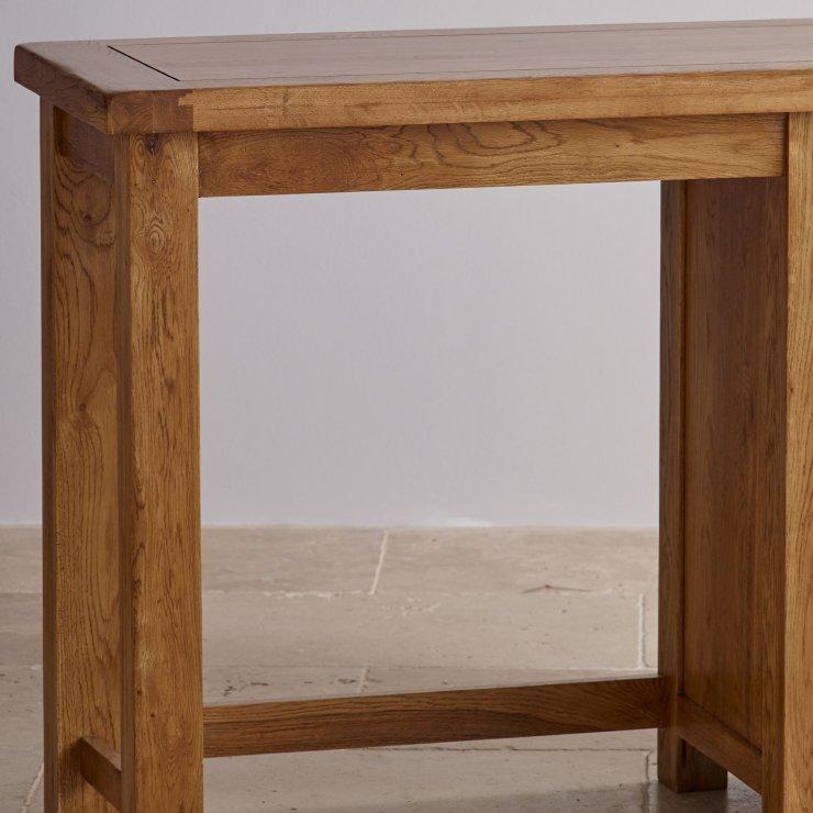 Original Rustic Solid Oak 3 Drawer Dressing Table