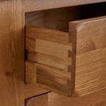 Original Rustic Solid Oak 3 Drawer Dressing Table  - Thumbnail 6