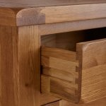 Original Rustic Solid Oak 5 Drawer Tallboy - Thumbnail 3