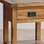 Original Rustic Solid Oak Bedside Table - Thumbnail 4