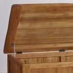 Original Rustic Solid Oak Blanket Box - Thumbnail 5