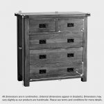 Original Rustic Solid Oak 3+2 Chest of Drawers  - Thumbnail 5
