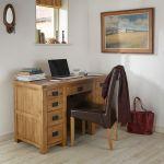 Original Rustic Solid Oak Computer Desk - Thumbnail 3