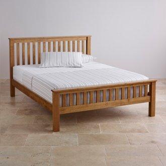 "Original Rustic Solid Oak 4ft 6"" Double Bed"