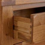 Original Rustic Solid Oak Small Dresser - Thumbnail 6