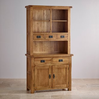 Original Rustic Solid Oak Small Dresser