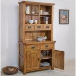 Original Rustic Solid Oak Small Dresser - Thumbnail 3