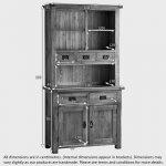 Original Rustic Solid Oak Small Dresser - Thumbnail 7