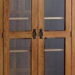 Original Rustic Solid Oak Glazed Display Cabinet - Thumbnail 5