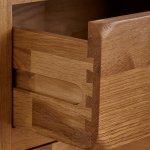 Original Rustic Solid Oak Glazed Display Cabinet - Thumbnail 6