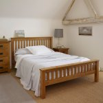 Original Rustic Solid Oak 5ft King-Size Bed - Thumbnail 3