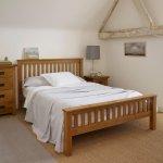Original Rustic Solid Oak 5ft King-Size Bed - Thumbnail 2