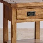 Original Rustic Solid Oak Lamp Table - Thumbnail 4