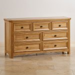 Wiltshire Solid Oak 3+4 Chest of Drawers - Thumbnail 2