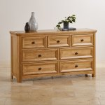 Wiltshire Solid Oak 3+4 Chest of Drawers - Thumbnail 3