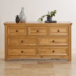Wiltshire Solid Oak 3+4 Chest of Drawers - Thumbnail 4