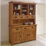 Original Rustic Solid Oak Large Dresser - Thumbnail 3