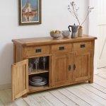 Original Rustic Solid Oak Large Sideboard - Thumbnail 3