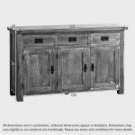Original Rustic Solid Oak Large Sideboard - Thumbnail 5