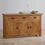 Original Rustic Solid Oak Large Sideboard - Thumbnail 4