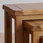 Original Rustic Solid Oak Nest of Tables - Thumbnail 3