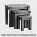 Original Rustic Solid Oak Nest of Tables - Thumbnail 4