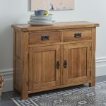 Original Rustic Solid Oak Small Sideboard - Thumbnail 3