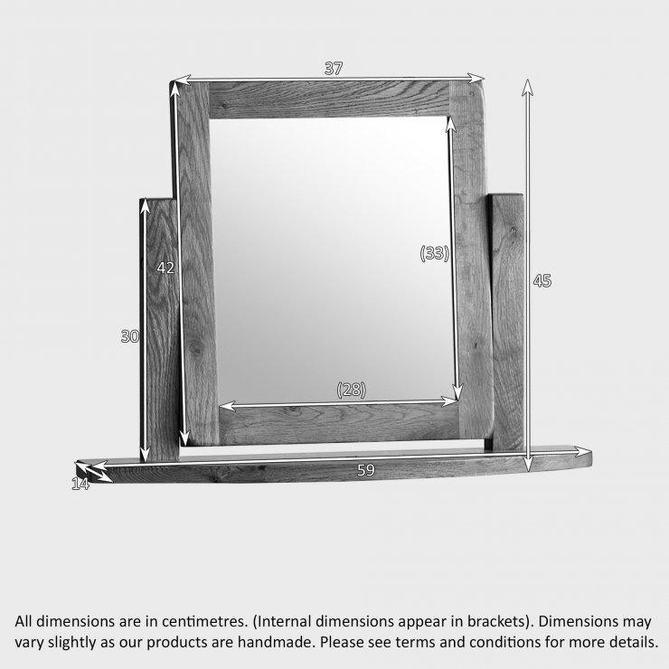 Original Rustic Solid Oak Dressing Table Mirror