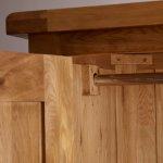 Original Rustic Solid Oak Triple Wardrobe - Thumbnail 4
