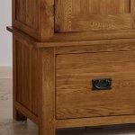 Original Rustic Solid Oak Triple Wardrobe - Thumbnail 5