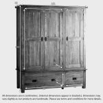 Original Rustic Solid Oak Triple Wardrobe - Thumbnail 7