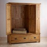 Original Rustic Solid Oak Triple Wardrobe - Thumbnail 3