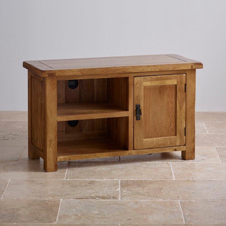 Original Rustic Solid Oak TV Cabinet - Image 5