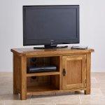 Original Rustic Solid Oak TV Cabinet - Thumbnail 2