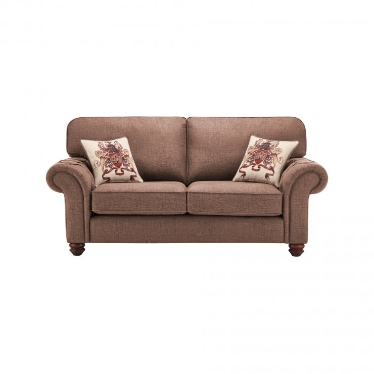 Sandringham 2 Seater High Back Sofa in Coffee with Dark Brown Scatters - Image 1