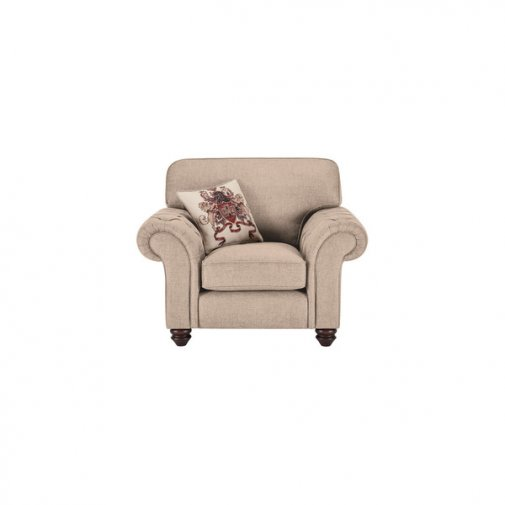 Sandringham Armchair in Beige with Beige Scatter