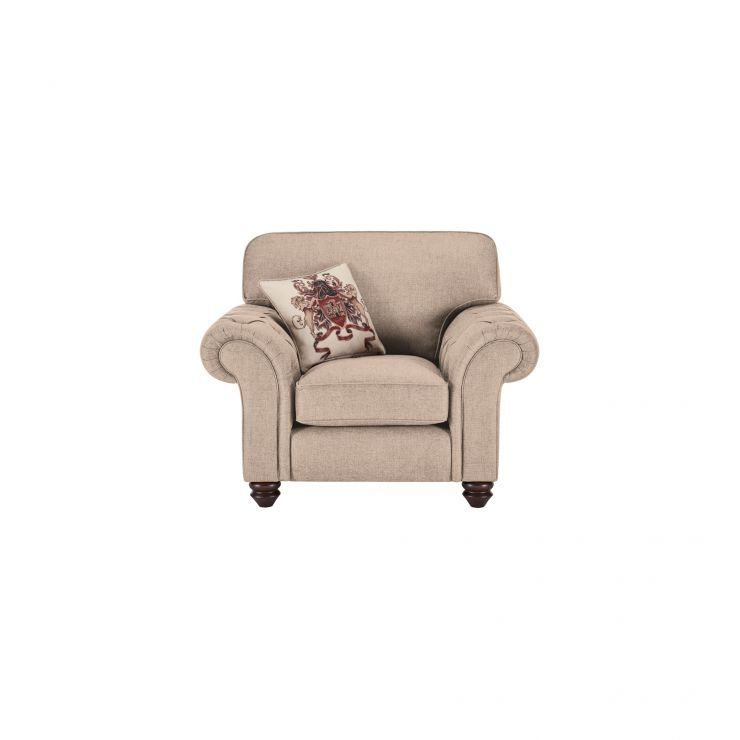 Sandringham Armchair in Beige with Beige Scatter - Image 1