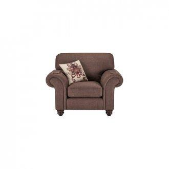 Sandringham Armchair in Brown with Beige Scatter