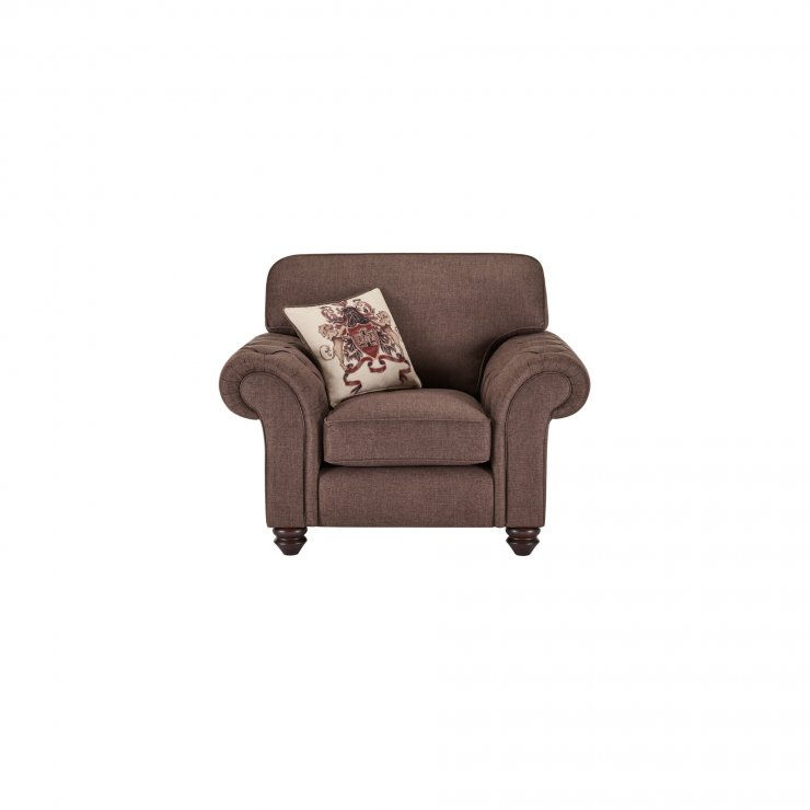 Sandringham Armchair in Coffee with Dark Brown Scatter - Image 1