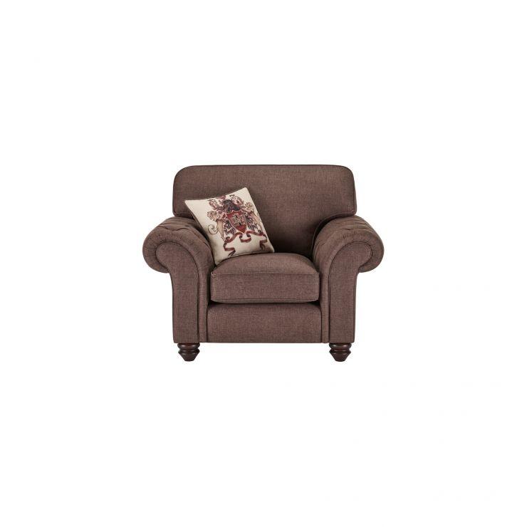 Sandringham Armchair in Coffee with Dark Brown Scatter - Image 1