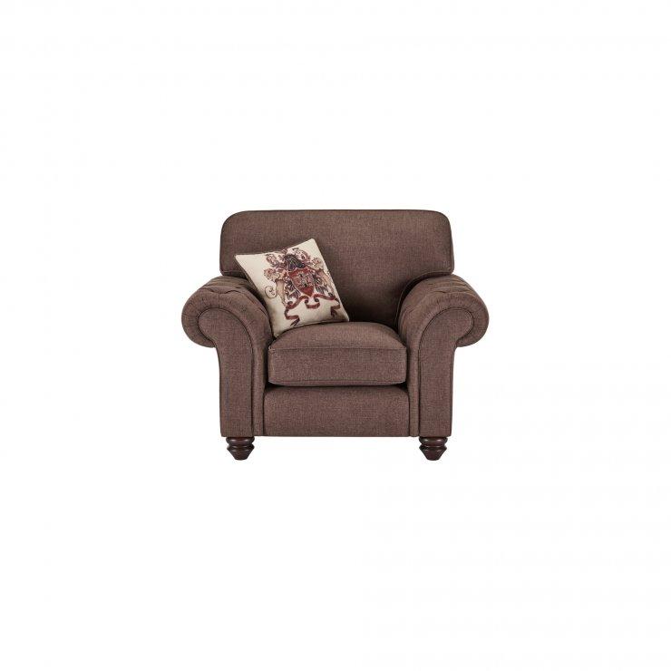 Sandringham Armchair in Coffee with Dark Brown Scatter