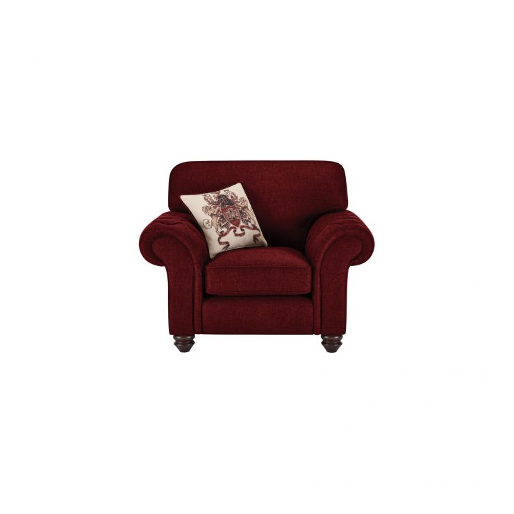 Sandringham Armchair in Red with Red Scatters - Image 1