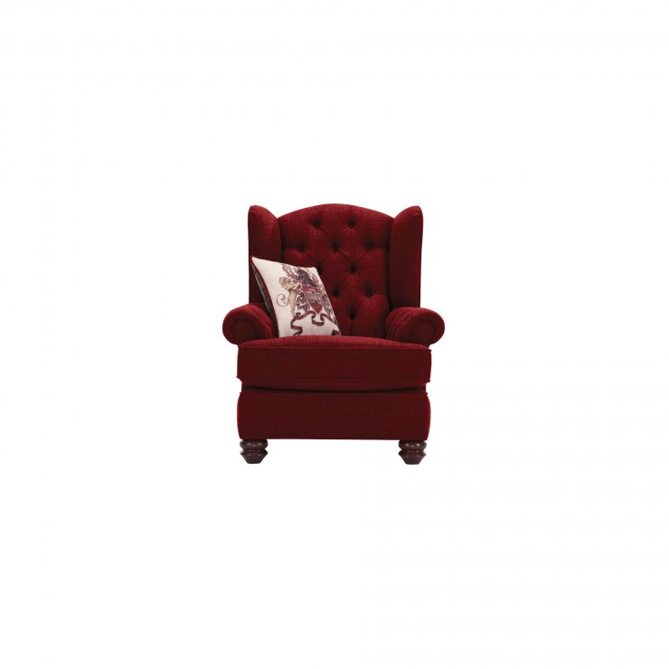 Sandringham Wing Chair in Red with Red Scatters - Image 1