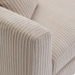 Sasha Right Hand 4 Seater Lounger in Ivory Fabric - Thumbnail 3