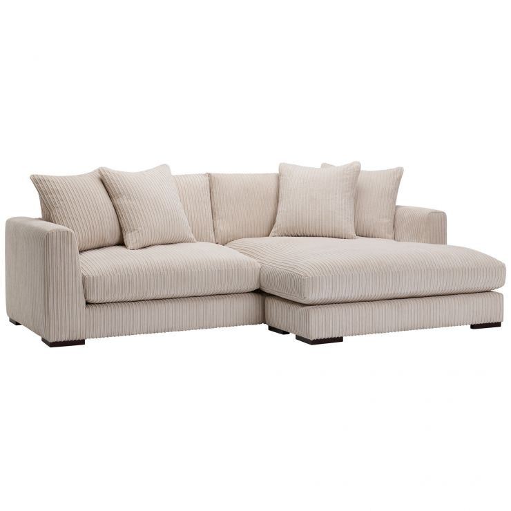 Sasha Right Hand 4 Seater Lounger in Ivory Fabric - Image 7