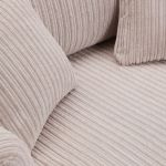 Sasha Swivel Chair in Ivory Fabric - Thumbnail 6