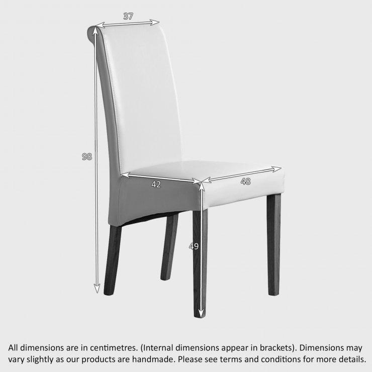 Scroll Back Plain Beige Fabric Chair with Solid Oak Legs
