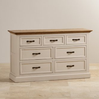 Seychelles Painted and Brushed Solid Oak 3+4 Chest of Drawers