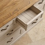 Seychelles Painted and Brushed Solid Oak 3+4 Chest of Drawers - Thumbnail 4