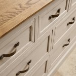 Seychelles Painted and Brushed Solid Oak 3+4 Chest of Drawers - Thumbnail 6